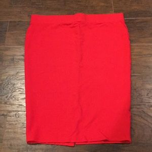 Torrid red, stretch pencil skirt size 1